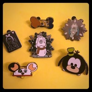 Six Dogs of Disney Hidden Mickey Collecting Pins